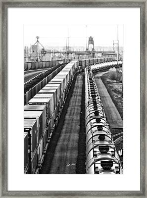 Framed Print featuring the photograph Trains Stop For Servicing by Bill Kesler
