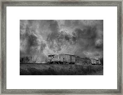 Trainscape Framed Print by Betsy Knapp