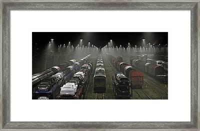 Trainsets Framed Print