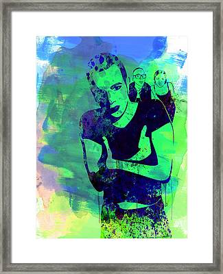 Trainspotting Watercolor 2 Framed Print by Naxart Studio