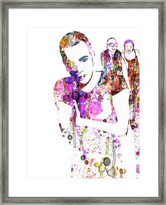 Trainspotting Watercolor Framed Print by Naxart Studio