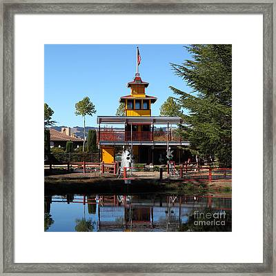 Traintown Sonoma California 5d19218 Square Framed Print by Wingsdomain Art and Photography