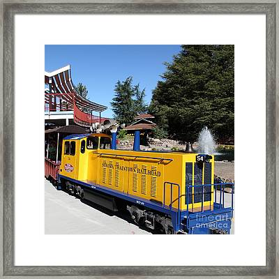 Traintown Sonoma California 5d19236 Square Framed Print by Wingsdomain Art and Photography