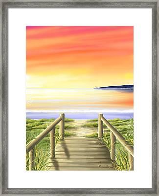 Tramonto Di Fine Estate Framed Print by Veronica Minozzi