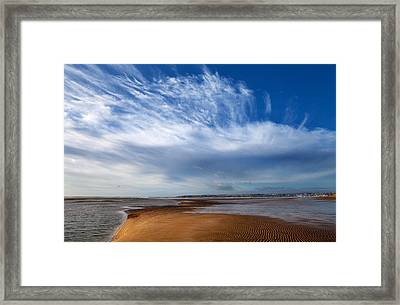 Tramore Strand And Town From The Dunes Framed Print by Panoramic Images