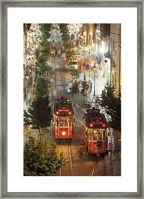 Trams In Beyoglu Framed Print