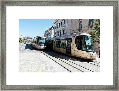 Trams In Orleans Framed Print by Louise Murray
