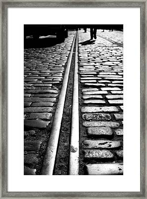 Tramway Framed Print by Lesley Rigg