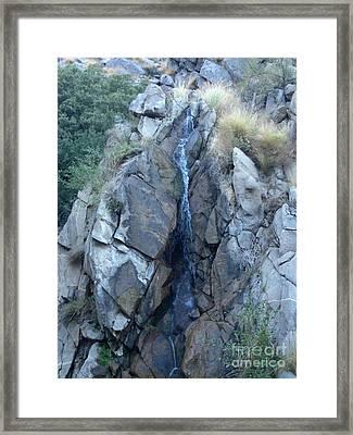 Tramway Waterfall Framed Print by Deborah Smolinske