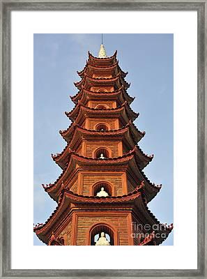Tran Quoc Pagoda In Hanoi Framed Print by Sami Sarkis