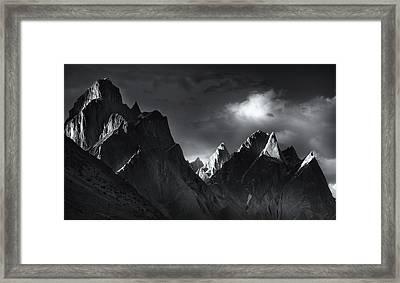 Trango Towers Framed Print