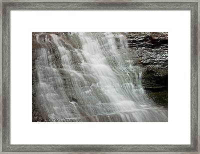 Framed Print featuring the photograph Tranquil Falls by Haren Images- Kriss Haren