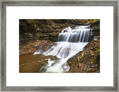 Tranquil Falls  Framed Print by Michael Ver Sprill
