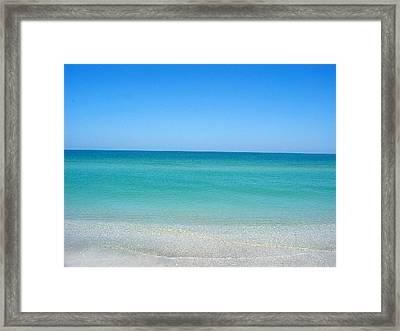 Framed Print featuring the photograph Tranquil Gulf Pond by David Nicholls