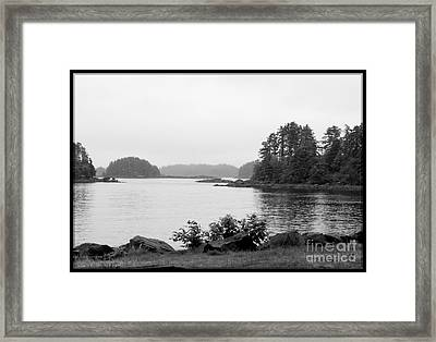 Framed Print featuring the photograph Tranquil Harbor by Victoria Harrington
