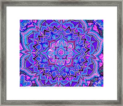 Tranquil Lotus Framed Print
