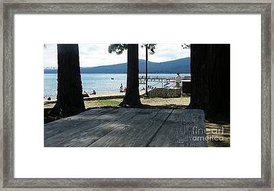 Framed Print featuring the photograph Tranquil Moment by Bobbee Rickard