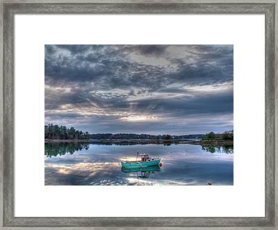Tranquil Mooring Framed Print