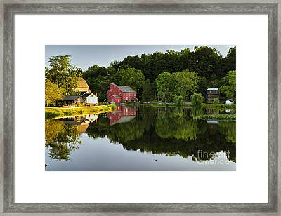 Tranquil River Reflections  Framed Print by George Oze