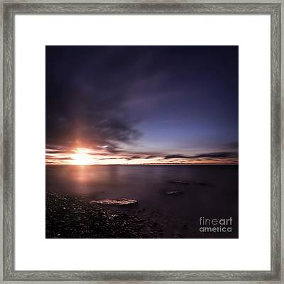Tranquil Sea Against Moody Sky Framed Print