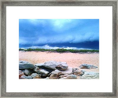 Tranquil Storm Framed Print by Julie Wilcox