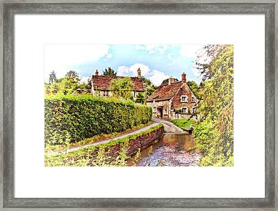 Tranquil Stream Lacock Framed Print by Paul Gulliver