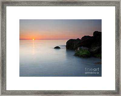 Tranquil Sunset Framed Print by Mike  Dawson