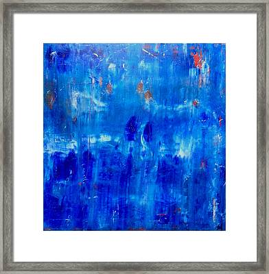 Tranquil Framed Print by Tanya Lozano Abstract Expressionism