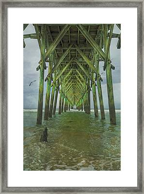 Tranquil Topsail Surf City Pier Framed Print