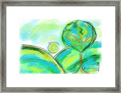 Tranquil Tree No1 Framed Print by Mary C Wells