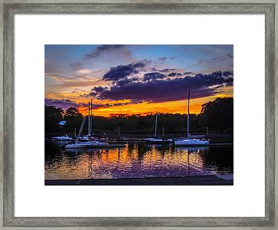 Framed Print featuring the photograph Tranquil Waters by Glenn Feron