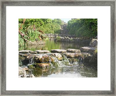 Tranquil Waters - Streaming Calm And Peace Framed Print