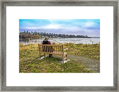 Tranquil Winter Afternoon Framed Print