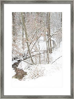 Tranquil Winters Creek Framed Print