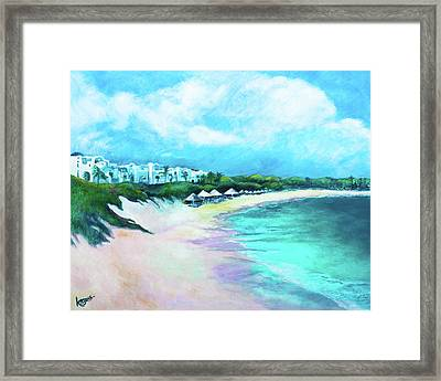 Tranquility Anguilla Framed Print