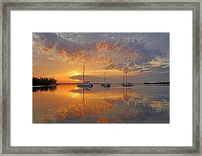Tranquility Bay - Florida Sunrise Framed Print by HH Photography of Florida