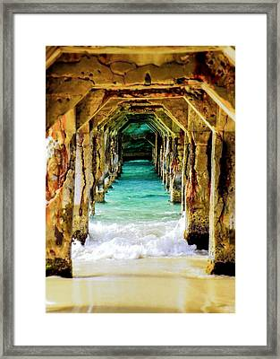 Tranquility Below Framed Print by Karen Wiles