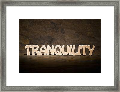 Tranquility Framed Print by Donald  Erickson