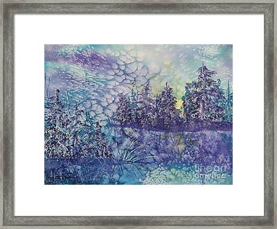 Framed Print featuring the painting Tranquility by Ellen Levinson