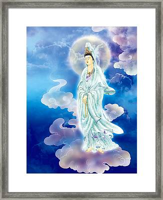 Framed Print featuring the photograph Tranquility Enabling Kuan Yin by Lanjee Chee