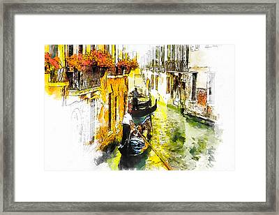 Framed Print featuring the painting Tranquillity by Greg Collins