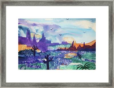 Framed Print featuring the painting Tranquility II by Ellen Levinson
