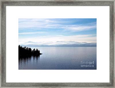 Tranquility - Lake Tahoe Framed Print