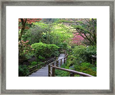 Tranquility Lane Framed Print by Shirley Sirois
