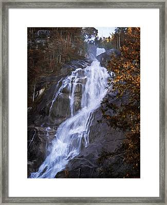 Tranquility Of Creation - Waterfall Art Framed Print
