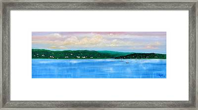Tranquility On The Navesink River Framed Print