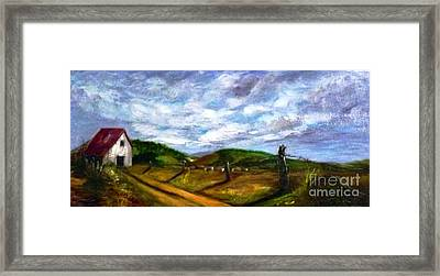 Framed Print featuring the painting Tranquility - Original Sold by Therese Alcorn