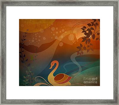 Tranquility Sunset Framed Print by Bedros Awak