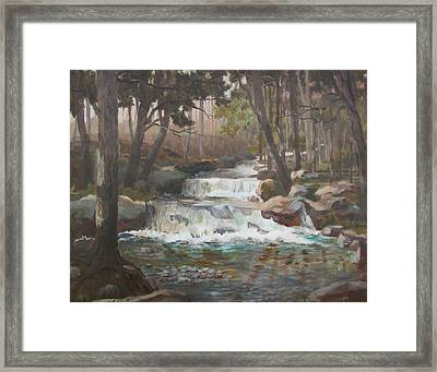 Framed Print featuring the painting Tranquility by Tony Caviston