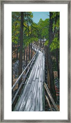 Framed Print featuring the painting Tranquility Trail by Sharon Duguay